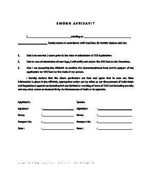 Free Download PDF Books, SWORN Affidavit of Statement Template