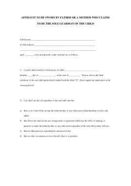 Free Download PDF Books, Sworn Affidavit Statement Template
