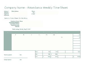 Free Download PDF Books, Payroll Time Sheet Attendance Calculator Template