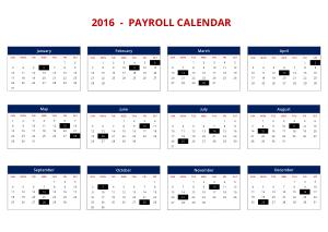 Free Download PDF Books, 2016 Payroll Calendar Template
