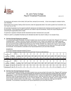 Free Download PDF Books, Payroll Timesheet Procedures Template