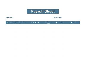 Free Download PDF Books, Payroll Timesheet Sample Template
