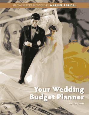 Free Download PDF Books, Wedding Budget Planner Worksheet Template
