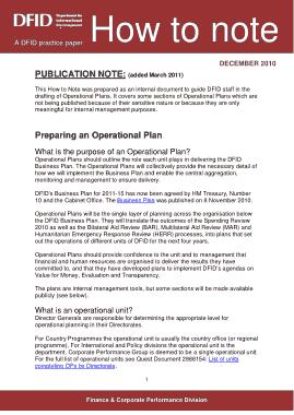 Operational Plan PDF Template
