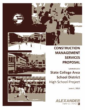 Sample Construction Management Services Proposal Project Template