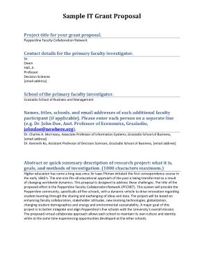 Free Download PDF Books, Sample IT Grant Proposal Template