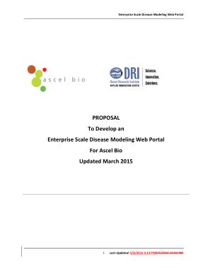 Sample Web Portal Project Proposal Template