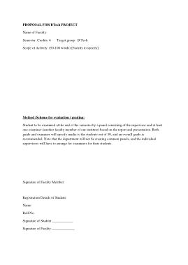 B.Tech Project Proposal Template