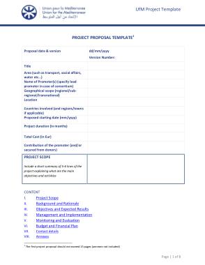 UFM Project Proposal Template