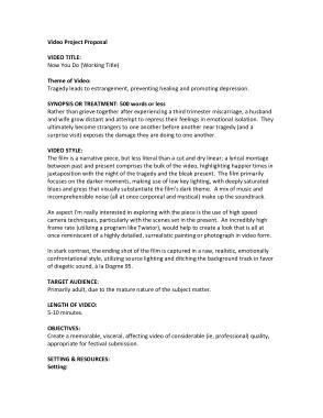 Video Proposal Proposal Template