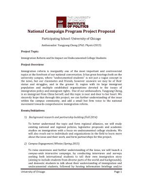 Free Download PDF Books, Campaign Program Project Proposal Template