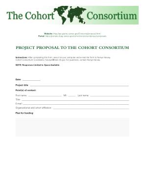 Free Download PDF Books, Cohort Consortium Project Proposal Template