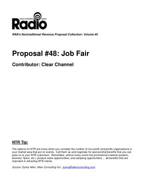 Job Fair Project Proposal Template