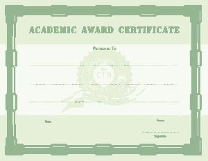 Free Download PDF Books, Academic Award Certificate Template