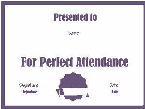 Free Download PDF Books, Attendance Award Certificate Template