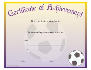 Free Download PDF Books, Generic Sports Award Certificate Template