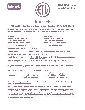 Free Download PDF Books, ETL Intertek Conformance Certificate Template