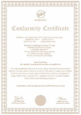 Free Download PDF Books, Manufacture Conformance Certificate Template