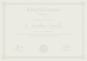 Free Download PDF Books, Congratulations Certificate General Format Template