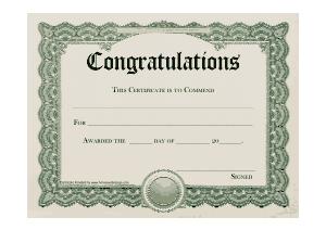Free Download PDF Books, Congratulations Certificate Sample Template