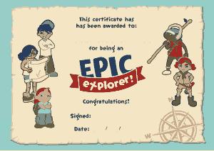 Free Download PDF Books, EPIC Explorer Certificate Template