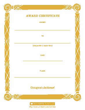 Sample Congratulation Certificate Template