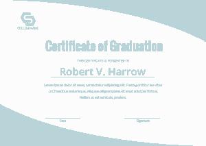 Free Download PDF Books, College Certificate of Graduation Template