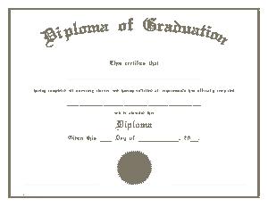 Diploma of Graduation Certificate Template
