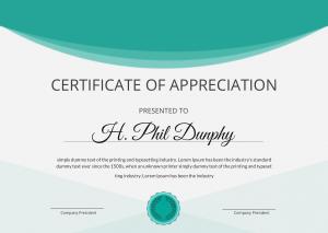 Free Download PDF Books, Graduation Appreciation Certificate Template