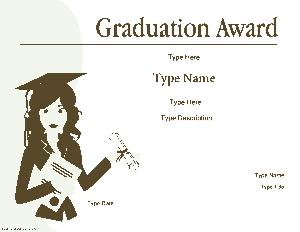 Free Download PDF Books, Graduation Award Certificate Template