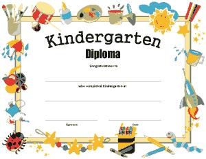 Free Download PDF Books, Kindergarten Graduation Diploma Certificate Template