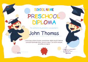 Free Download PDF Books, Preschool Graduation Certificate Template