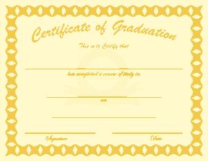 Free Download PDF Books, Sample Student Graduation Certificate Template