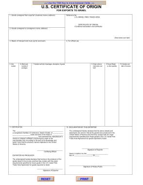 Free Download PDF Books, Sample Certificate of Origin Template