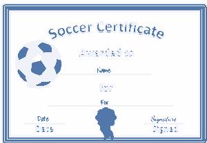 Free Download PDF Books, Certificate of Soccer Achievement Template