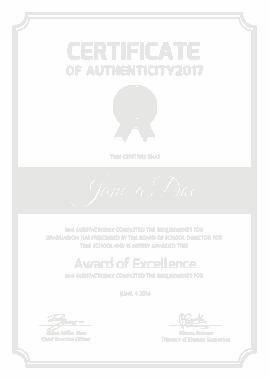 Free Download PDF Books, Multipurpose Authenticity Certificate Template