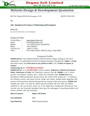 Free Download PDF Books, Ecommerce Site Development Quotation Template