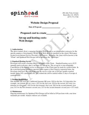 Free Download PDF Books, Website Design Proposal Quotation Template