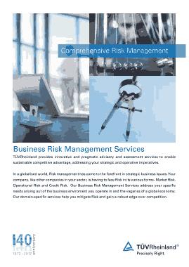 Free Download PDF Books, Comprehensive Risk Management Template