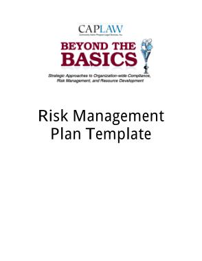 Fiscal Risk Management Plan Template