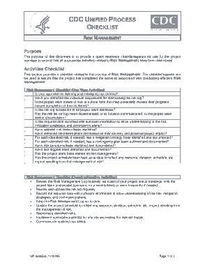 Management List for Risk Template