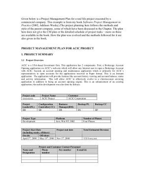 Project Configuration Management Plan Template