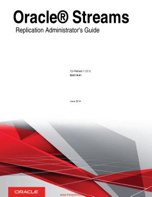 Oracle Streams Replication Administrators Guide