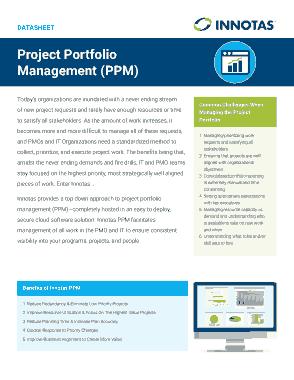 Free Download PDF Books, Project Portfolio Management Template