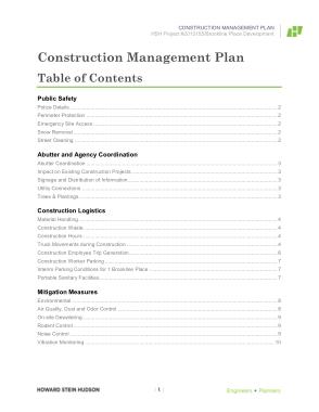 Free Download PDF Books, Construction Management Plan Sample Template