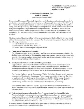 Free Download PDF Books, General Construction Management Plan Template