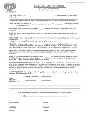 Free Download PDF Books, Rental Agreement Sample Template