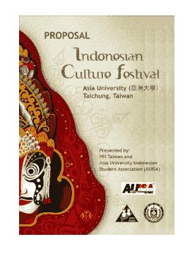 Free Download PDF Books, Cultural Festival Event Proposal Template
