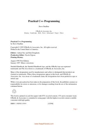 Practical C++ Programming 1995