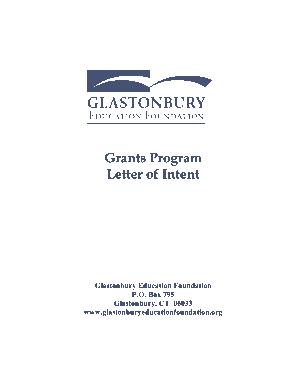 Grant Program Letter of Intent Form Template